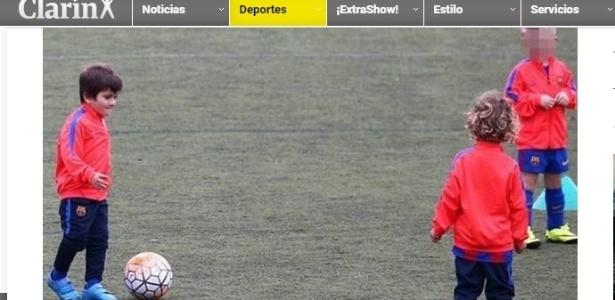 Thiago Messi treina na escolinha do Barcelona