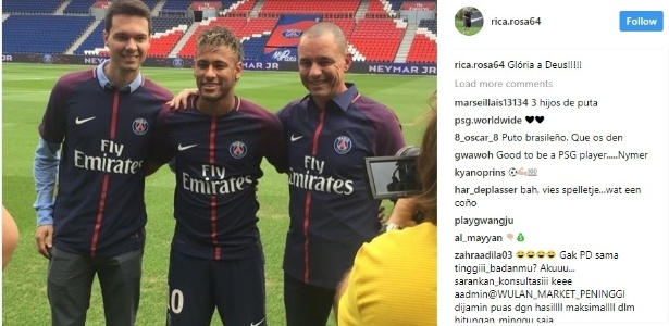 Rafael Martini (à esq.) e Ricardo Rosa (à dir.) acompanham Neymar desde os tempos de Santos