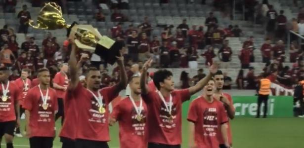 Jogadores sub-23 do Atlético celebram título paranaense: mais espaço no Brasileirão