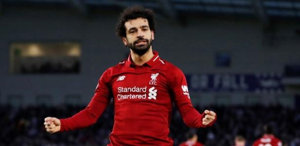 Salah marcou o único gol da partida de pênalti e deu a vitória ao Liverpool