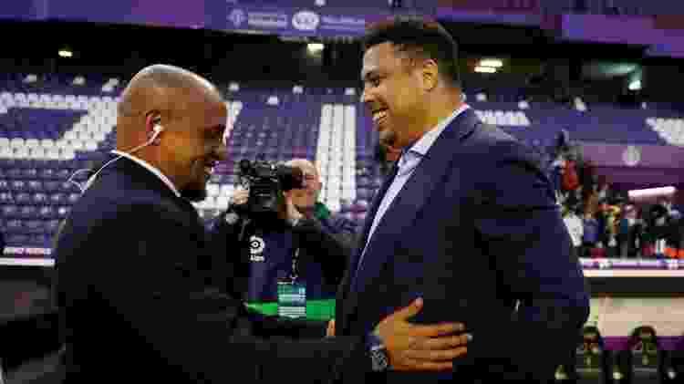Ronaldo e Roberto Carlos antes de partida entre Valladolid e Real Madrid - REUTERS/Sergio Perez - REUTERS/Sergio Perez