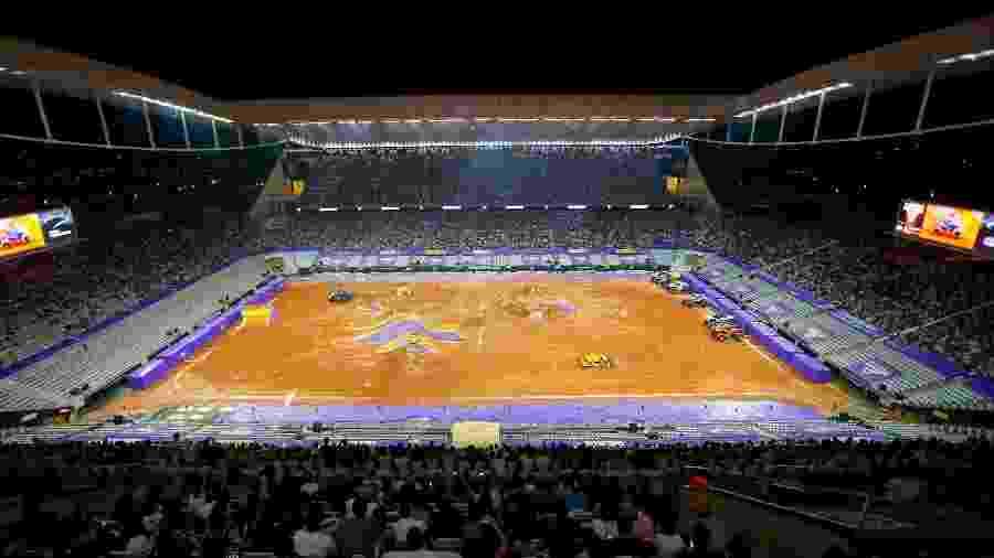 """Arena recebeu """"Monster Jam"""" em dezembro de 2018 e, desde então, nunca mais apresentou bom gramado - Rodrigo Coca/Ag. Corinthians"""