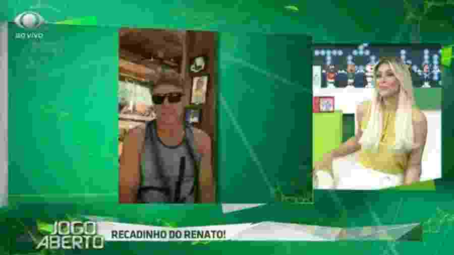 Renato Gaúcho zoa Renata Fan após derrota do Inter no Gre-Nal - Reprodução/Bandeirantes