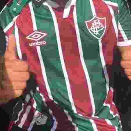 Este será o modelo da camisa tricolor do Fluminense criado pela inglesa Umbro - Divulgação