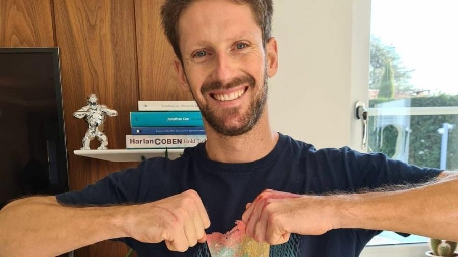 Romain Grosjean, piloto de Fórmula 1, remove curativos após 39 dias - Reprodução/Instagram