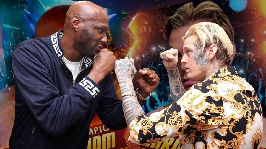 Lamar Odom x Aaron Carter vão se enfrentar no Celebrity Boxing - Reprodução/Instagram