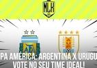 Argentina x Uruguai duelam na Copa América. Vote e monte seu time ideal! - Arte/UOL