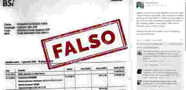 Senador negou veracidade de extrato publicado por revista, que se desculpou - Reprodução/Facebook