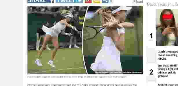 Atletas como Katie Boulter (foto) criticaram peça excessivamente curta e larga - Express/Reprodução