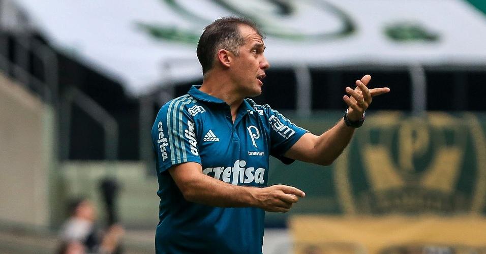 Eduardo Baptista comanda o Palmeiras contra o São Paulo
