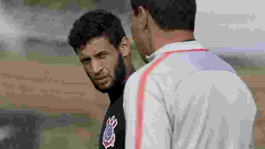 Juninho Capixaba em treino do Corinthians realizado no CT Joaquim Grava em 2018 - Daniel Augusto Jr. / Ag. Corinthians