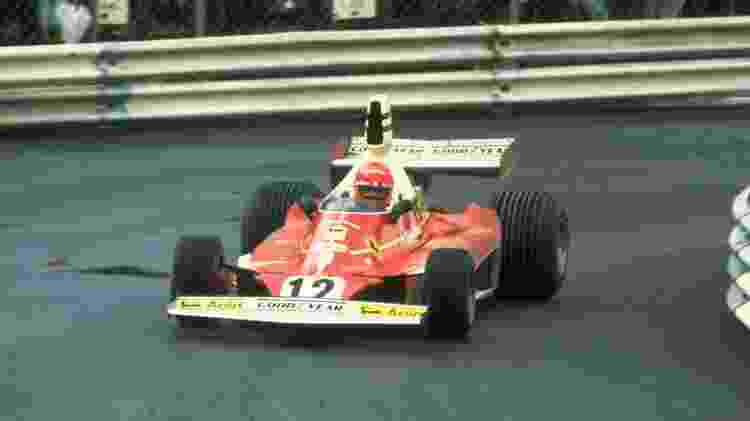 Niki Lauda no GP de Mônaco de 1975 - Tony Duffy/Allsport/Getty Images - Tony Duffy/Allsport/Getty Images
