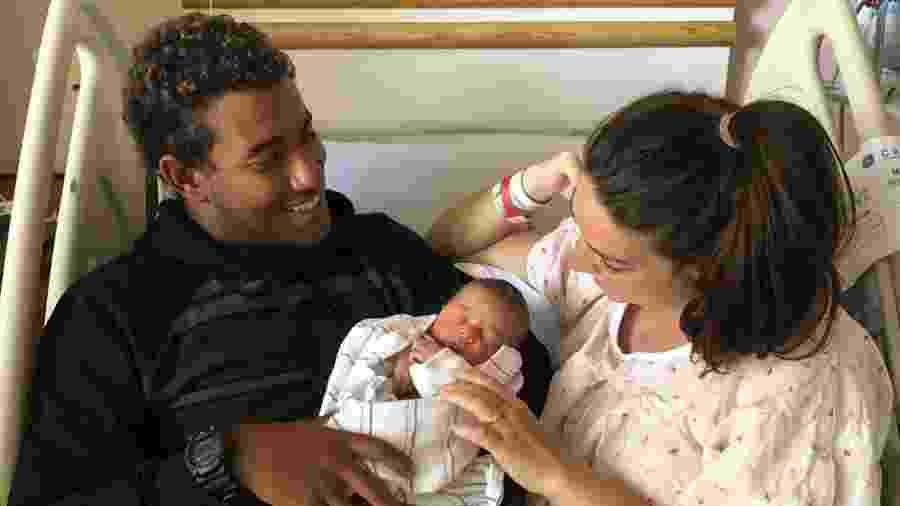 Wesley Santos e Mackenzie Dern com a filha, Moa - Reprodução/Instagram