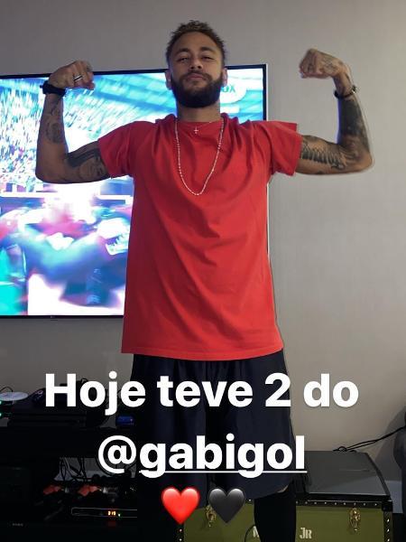 Neymar comemora título do Flamengo imitando Gabigol - Reprodução/Instagram