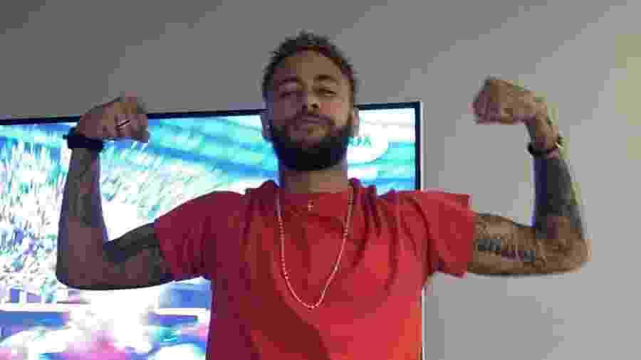 Neymar comemora título do Flamengo na Libertadores imitando Gabigol - Reprodução/Instagram