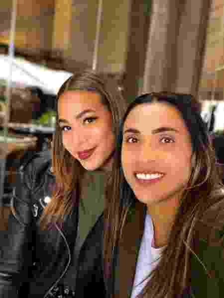 Marta ao lado da namorada Toni Deion   - Reprodução/Instagram
