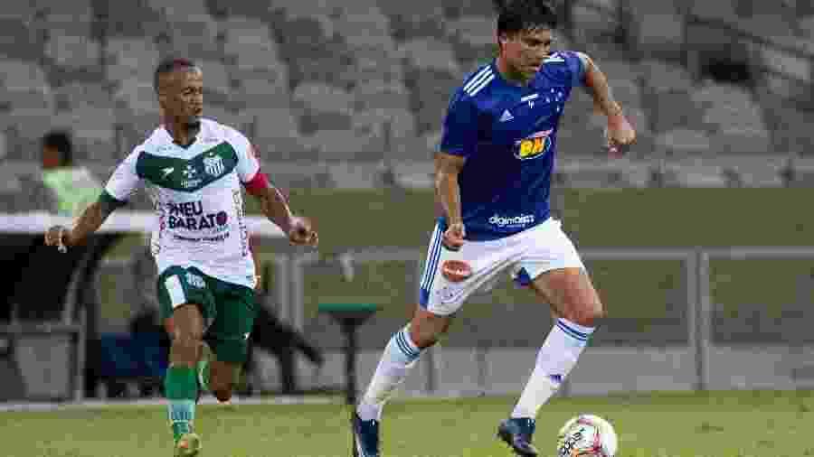 Marcelo Moreno, do Cruzeiro, durante partida contra o Uberlândia no primeiro turno do Estadual - Fernando Moreno/AGIF