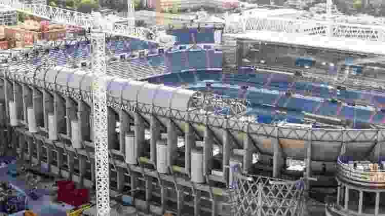 Bernabéu em obras - Real Madrid CF/Divulgação - Real Madrid CF/Divulgação
