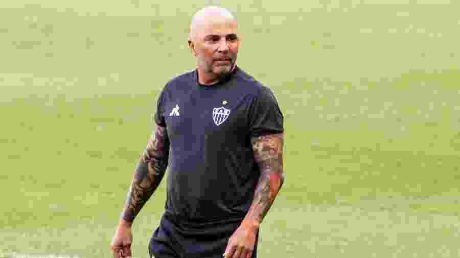 Jorge Sampaoli, técnico do Atlético-MG, recebeu convite para treinar o Al Nassr -  Fernando Moreno/AGIF