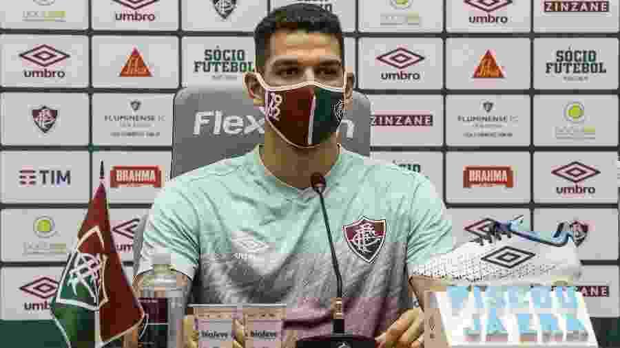 Zagueiro do Fluminense, Nino criticou alta de casos de covid-19 no Brasileirão - Lucas Mercon/Fluminense FC