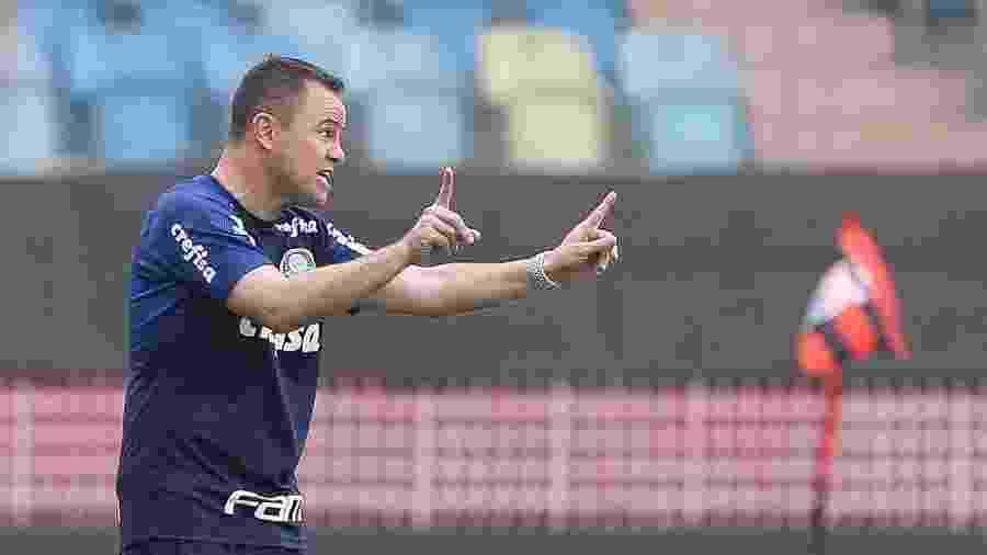 Andrey Lopes durante a vitória do Palmeiras sobre o Atlético-GO - Cesar Greco