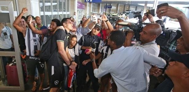 Desembarque do Botafogo no Rio de Janeiro - Divulgação/Twitter