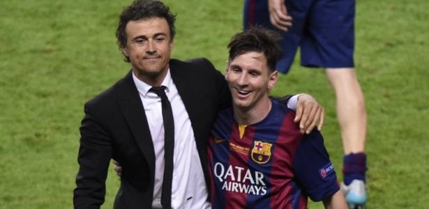 Lionel Messi trabalhou com Luis Enrique durante três temporadas no Barcelona