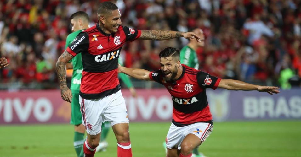 Guerrero e Diego são as referências do elenco rubro-negro no Campeonato Brasileiro