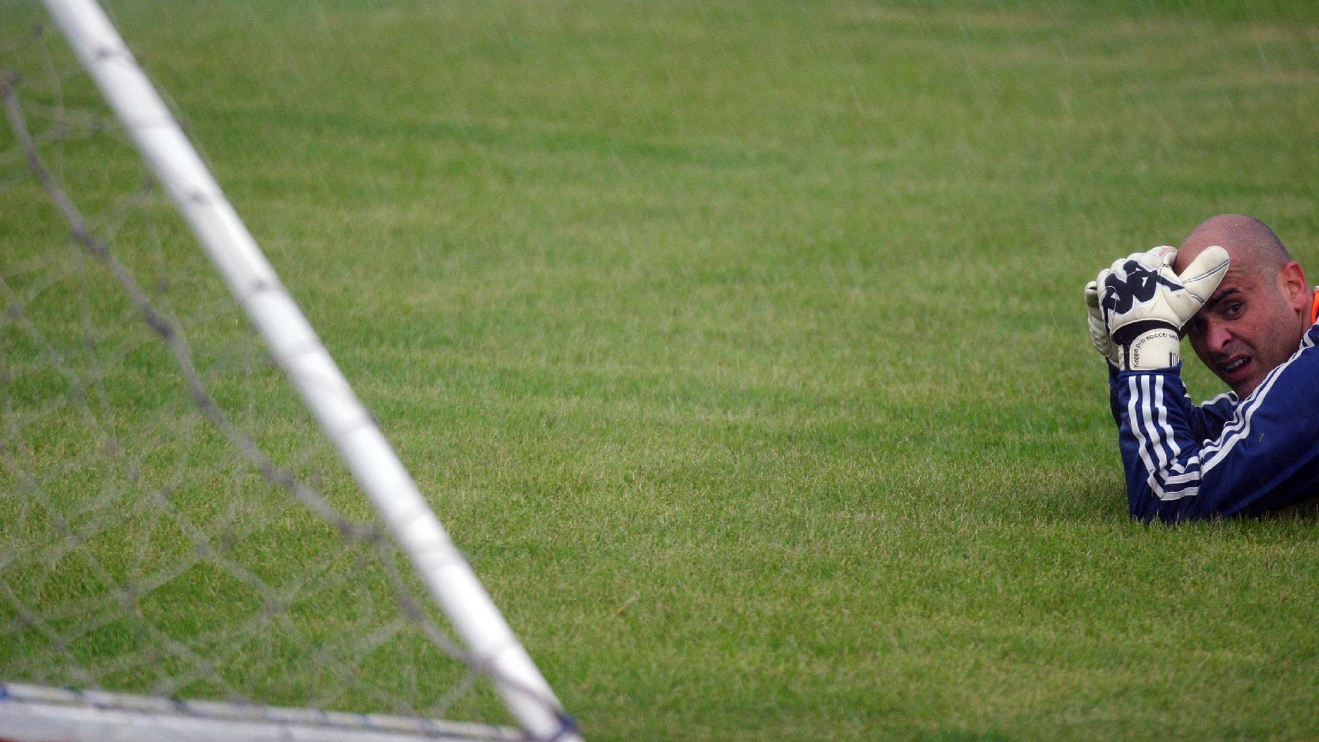 Marcos em treino do Palmeiras em 2008