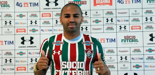Fluminense apresentou atacante Romarinho, maior artilheiro da história do Globo-RN - NELSON PEREZ/FLUMINENSE F.C.