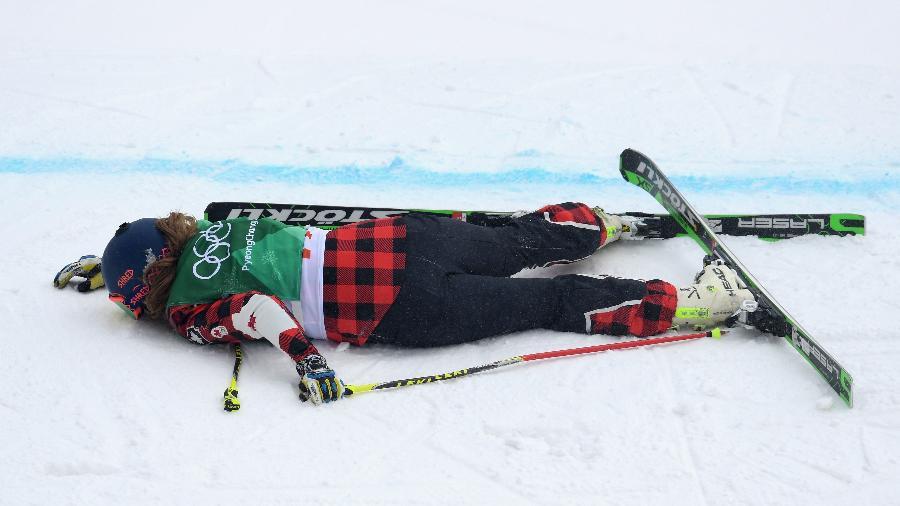A canadense India Sherret foi imobilizada e retirada da pista; estado de saúde ainda não foi divulgado - Matthias Hangst/Getty Images
