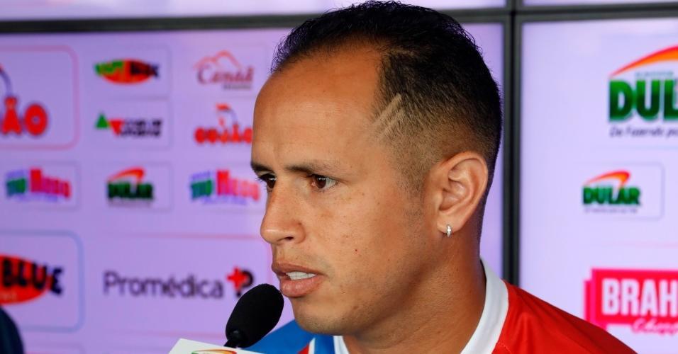 Alejandro Guerra concede entrevista coletiva pelo Bahia