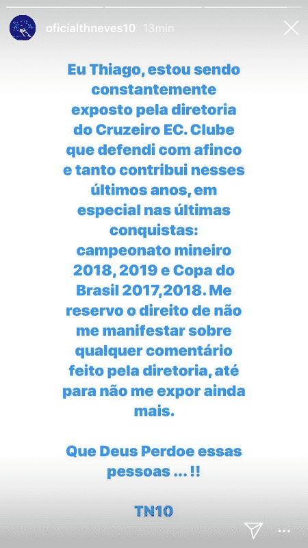 Thiago Neves - Reprodução/Instagram - Reprodução/Instagram