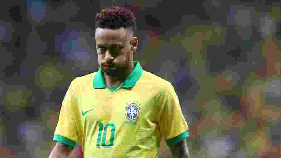 O jogador Neymar, do PSG e da seleção brasileira - Xinhua/Li Ming