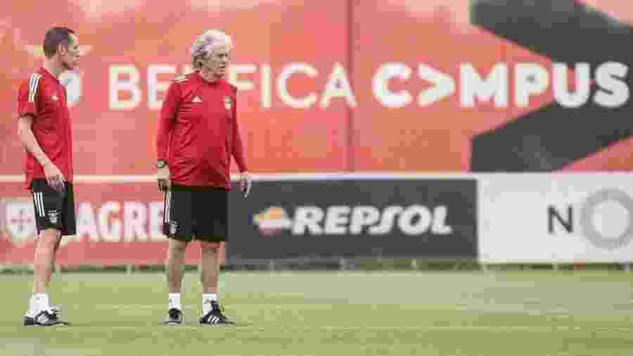 Jorge Jesus comanda primeiro treino pelo Benfica  - Reprodução/Facebook - Sport Lisboa e Benfica