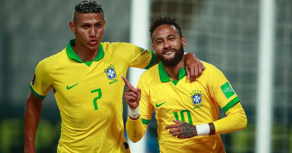 Neymar homenageia Ronaldo após marcar para o Brasil contra o Peru