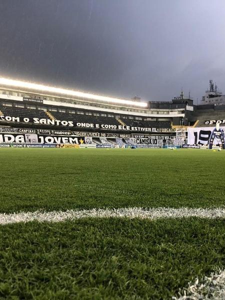 Vila Belmiro antes de Santos x Corinthians - Divulgação/Santos FC