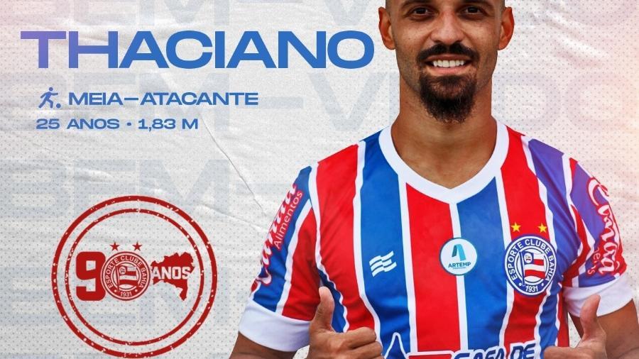 Thaciano é anunciado pelo Bahia - Reprodução/Twitter