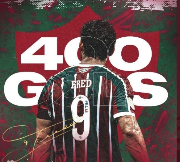 Fluminense celebra os 400 gols de Fred no Twitter