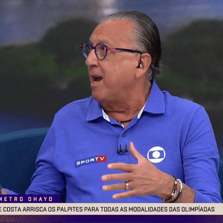 Galvão Bueno durante participação no Ohayo, do SporTV - Reprodução