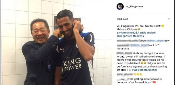 Mahrez tem a orelha puxada por dono do Leicester
