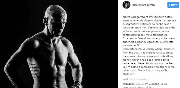 Marcos Loro está pedindo ajuda nas redes sociais - Reprodução/Instagram