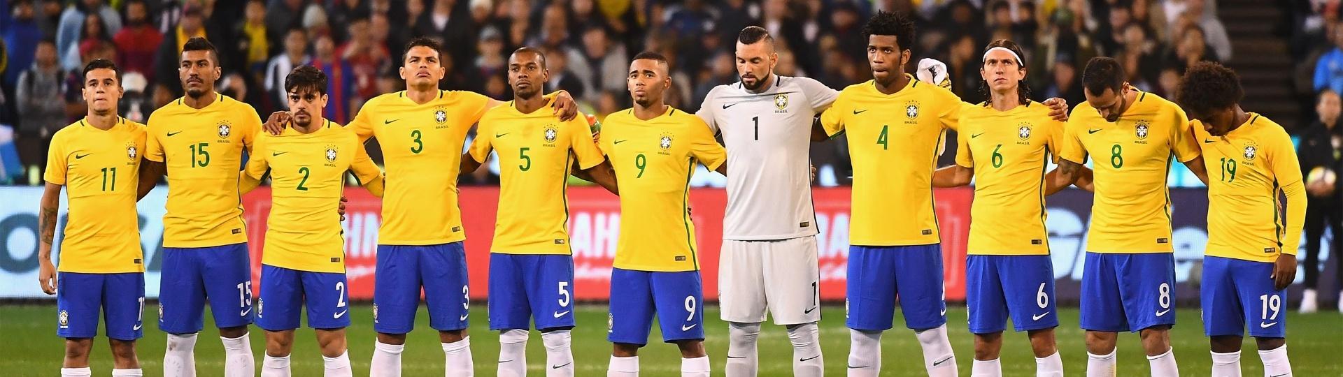 Seleção brasileira antes de amistoso contra a Argentina