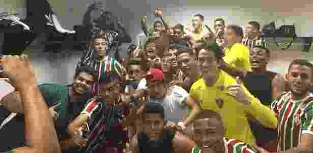 Fluminense venceu por 5 a 3, mas não pôde levantar o troféu da Taça Rio Sub-20 - Reprodução/Twitter/Fluminense FC