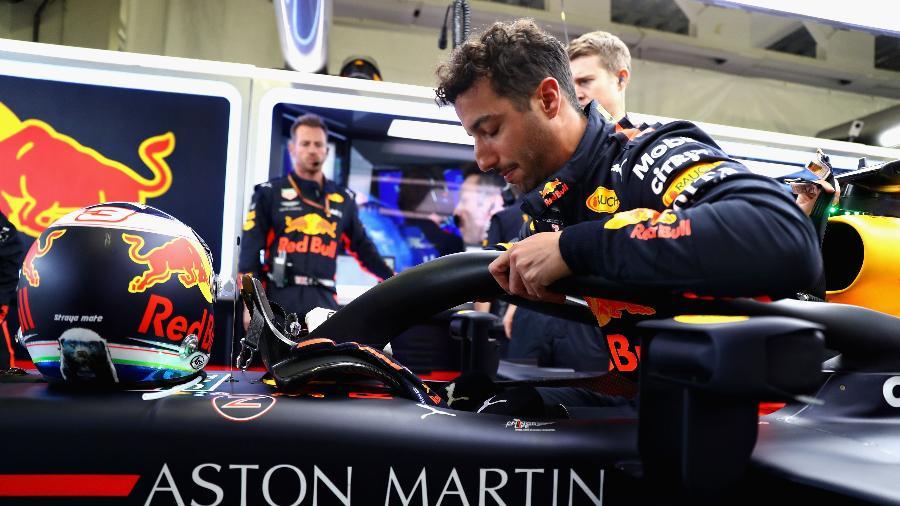 Ricciardo, da Red Bull, durante o GP do México - Mark Thompson/Getty Images/AFP