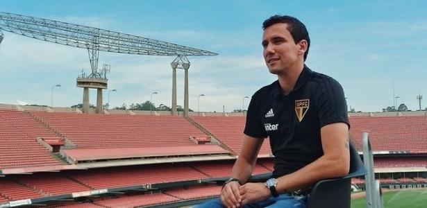 Atacante visitou o Morumbi na última sexta-feira para fazer entrevista - Divulgação/saopaulofc.net