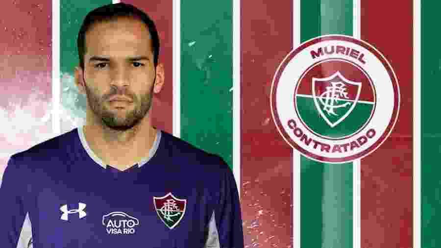 Muriel foi anunciado como novo reforço na noite de hoje - Divulgação Fluminense