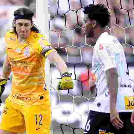 Cássio cumprimenta Gil: defesa do Corinthians  - Alan Morici/AGIF - Alan Morici/AGIF