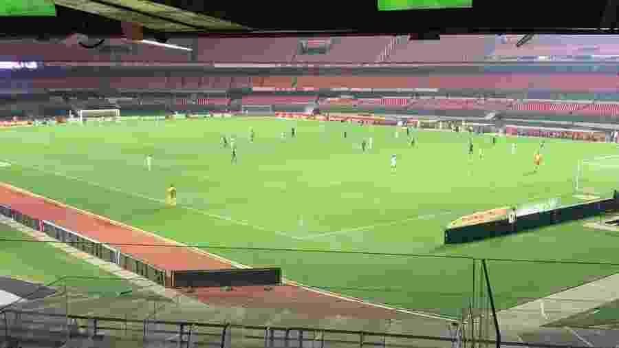 Morumbi vazio para a vitória do São Paulo sobre o Santos, de vida, no sábado (14) - Felipe Espindola/São Paulo Futebol Clube