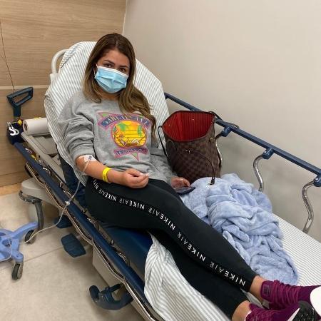 Mallu Ohanna, ex-esposa de Dudu, é atendida em hospital após suposta agressão do jogador - Arquivo pessoal